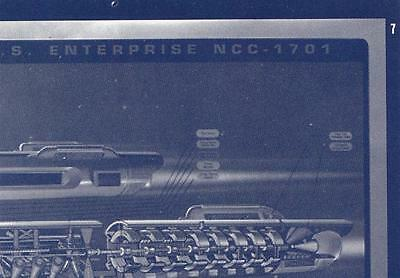 Star Trek USS Enterprise NCC 1701 Blue Print card #7