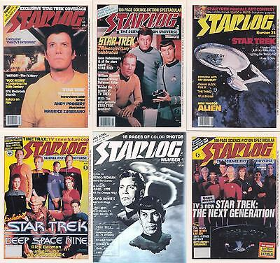 STAR TREK Starlog RARE Complete PROMO 6 Card SET with Silver hologram