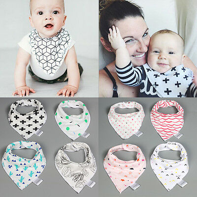 4Pcs Baby Bibs Cotton Babador Triangle Towel For Baby Girl Boys