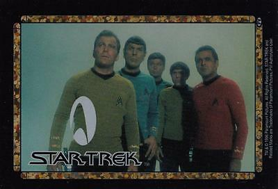 Star Trek TOS 1996 Vending Machine card/sticker with the crew Kirk, Spock,