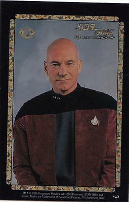 Star Trek TNG 1996 Vending Machine card/sticker with Picard in jacket