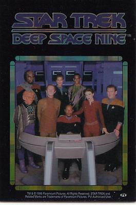 Star Trek DS9 1996 Vending Machine card/sticker featuring the crew