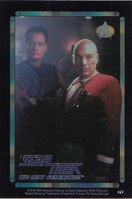 Star Trek TNG 1996 Vending Machine card/sticker with Picard and Q