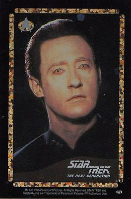 Star Trek TNG 1996 Vending Machine card/sticker with Data
