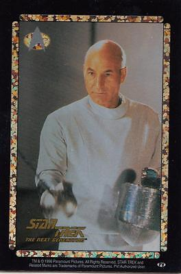 Star Trek TNG 1996 Vending Machine card/sticker with Picard fencing