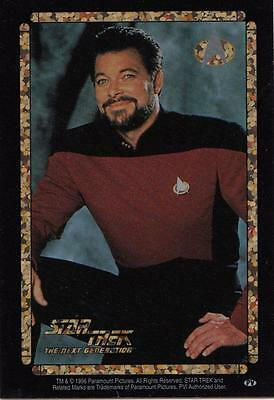 Star Trek TNG 1996 Vending Machine card/sticker with Riker standing