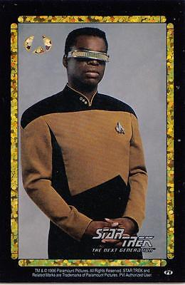 Star Trek TNG 1996 Vending Machine card/sticker with Geordi