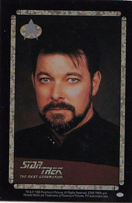 Star Trek TNG 1996 Vending Machine card/sticker with Riker head shot