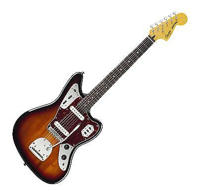 Fender Squier Vintage Modified Jaguar Rw 3Cs Sunburst E-Gitarre Electric Guitar