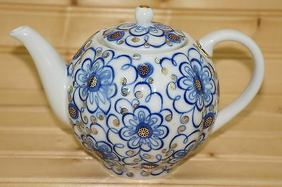 """Russian Imperial Lomonosov TeaPot with Matching Lid, about 5"""" Tall"""