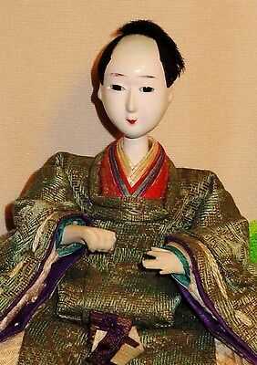 "Antique Pre-1920 Japanese Seated 4.5"" Male Musician Hina Doll AAD4161415.10"