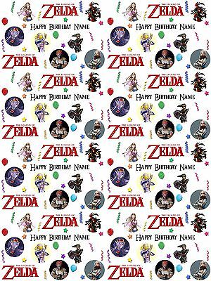 Legend of Zelda Personalised Birthday Gift Wrapping ADD NAME/S CHOOSE BACKGROUND