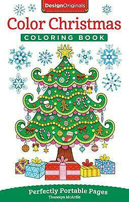 Color Christmas Coloring Book: Perfectly Portable Pages by Thaneeya McArdle (Eng