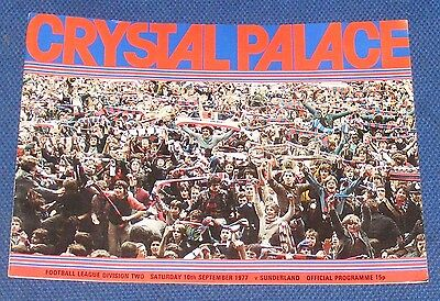 Crystal Palace Home Programmes 1977-1978