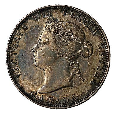 1874-H Canada 25 Cents Silver Quarter Dollar Choice Extremely Fine CH XF