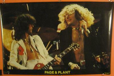 Led Zepellin Original Vintage 1970's Full Size Poster Robert Plant Jimmy Page