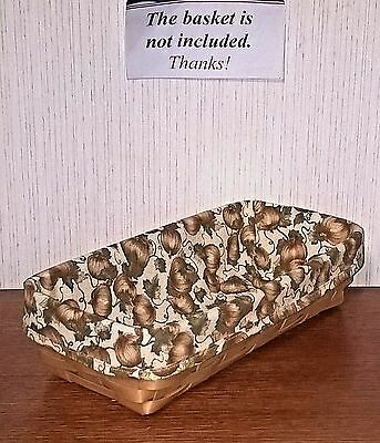 Bread Basket Liner from Longaberger Pumpkin Patch fabric! New!