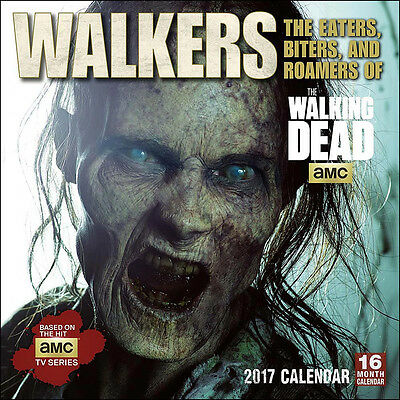 The Walking Dead TV Series Walkers 16 Month 2017 Wall Calendar, NEW SEALED