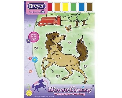 Breyer Horse Crazy Watercolor Painting activity set for young artist 20 pgs <><