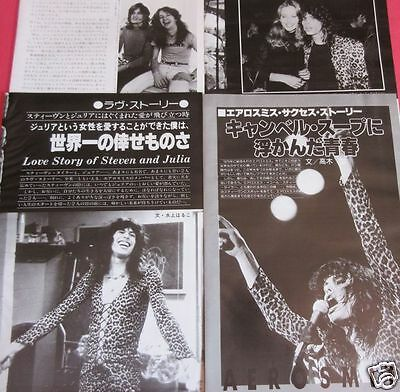 Aerosmith Steven Tyler Joe Perry 1977 Clipping Japan Magazine Rs 8A 8Page