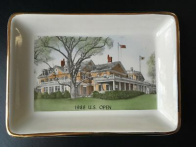 Vintage The Country Club 88th U.S. Open Golf Hand colored Rare Souvenir Tray