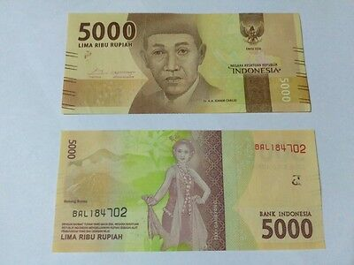 Indonesia 5000 Rupiah 2016 New Note UNC 1pcs = 1 notes