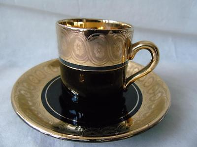 Rare Gibson & Sons Late Sevres Davenport Demitasse Cabinet Can Cup & Saucer
