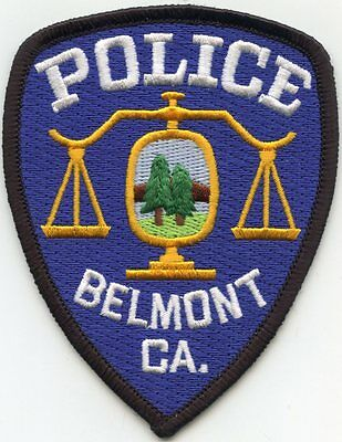 Belmont California Ca Police Patch