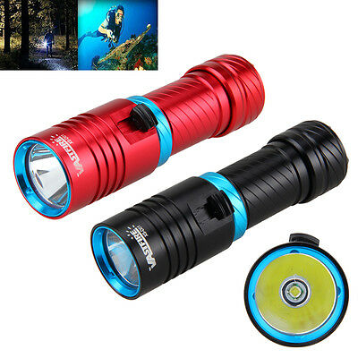 Underwater 100m Dive Flashlight Torch 10000LM T6 LED Aluminum Adjust Brightness