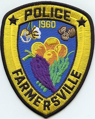Farmersville California Ca Police Patch