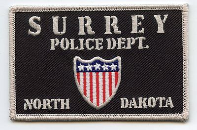 new style SURREY NORTH DAKOTA ND POLICE PATCH