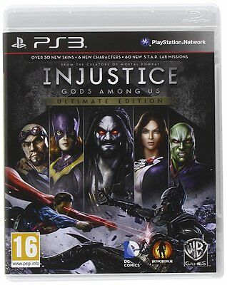 Injustice: Gods Among Us Ultimate Edition PS3 UK (PS3) BRAND NEW SEALED