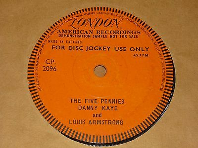 """Danny Kaye & Louis Armstrong """"The Five Pennies"""" London Demo 45"""