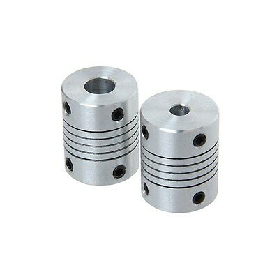 2PCS 5mmx10mm CNC Motor 3D PrinterJaw Shaft Coupler 5mm-10mm Flexible Coupling 5