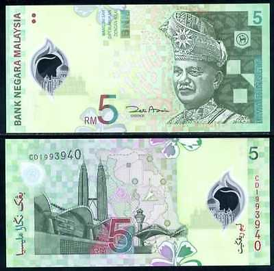 Malaysia 5 Ringgit Nd 2004 P 47 Polymer Unc