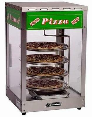 Pizza Display Case Merchandiser Holds Four Warm 16in Pizzas