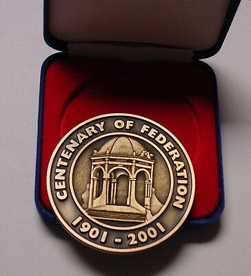 2001 Centenary of Federation medal in box of issue.