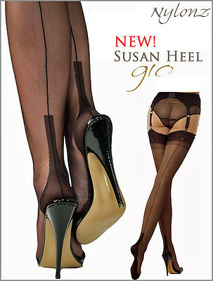 Gio Fully Fashioned Stockings - SUSAN Heel - imperfects / All Colours & Sizes
