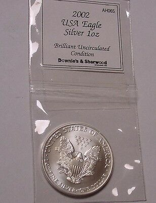 USA 2002 Silver Eagle Dollar, UNC in pack.