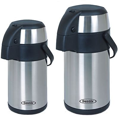 3L / 5L Litre Stainless Steel Pump Action Airpot Hot & Cold Tea Coffee Flask New