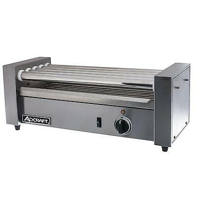 Adcraft RG-05 Stainless 12 Hot Dog Roller Grill w/ 5 Rollers