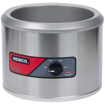 Nemco 11 Quart Counter Top Round Cooker Warmer 220V - 6103A-220