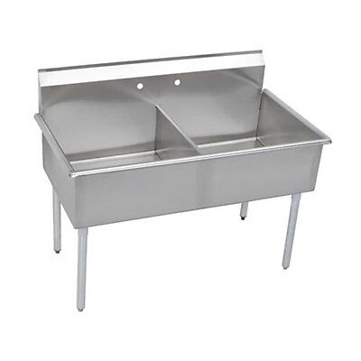 """Elkay Foodservice 2 Compartment Utility Sink 24"""" x 24"""" x 12"""" Bowls 18/300 S/s"""