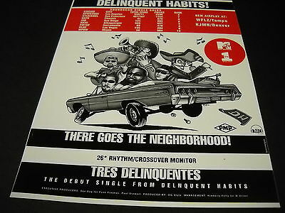 DELINQUENT HABITS Tres Delinquents THERE GOES NEIGHBORHOOD 1996 Display Advert