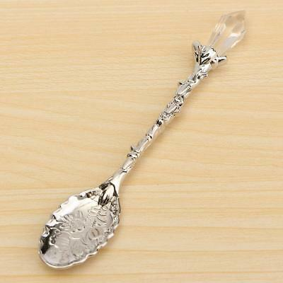 Palace Style Decorative Cheese Coffee Tea Bronze Spoon Scoop Gift Silver