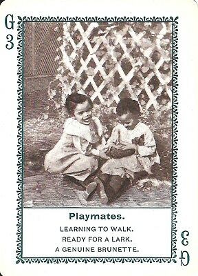 Playmates 1897 In Dixie-Land Playing Game Card #G3- Black Americana