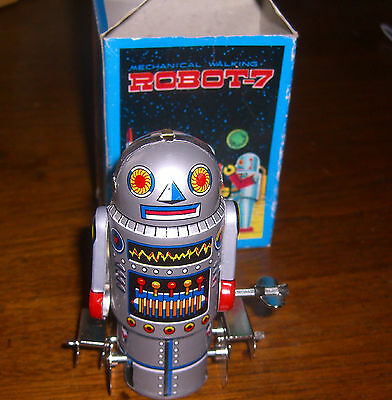 Small Tin Robot-7 Toy Which is NIB