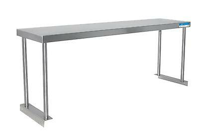 "BK Resources BK-OSS-1296 96""W x 12""D S/s Single Overshelf Table Mount NSF"