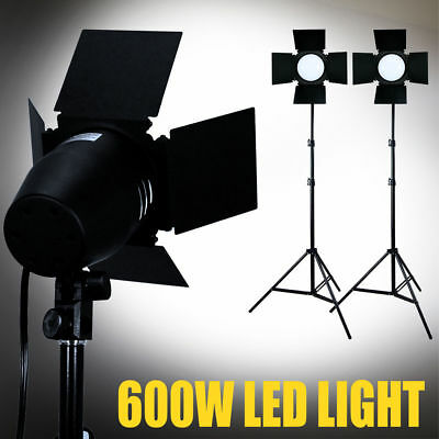 400 LED 3300lm Daylight Barndoor Lighting Professional Studio Light Stand Kit