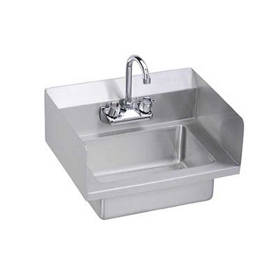 "Elkay Foodservice 18"" Economy Hand Sink Wall Mount w/ 2 Side Splashes & Faucet"